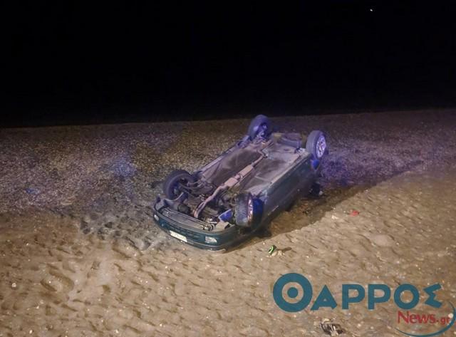 «Ιπτάμενο» αυτοκίνητο κατέληξε στην παραλία της Καλαμάτας, σώος ο οδηγός
