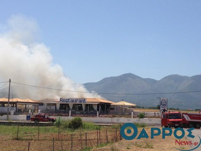 Φωτιά κατέκαψε εγκαταστάσεις θερινής επιχείρησης εστίασης στο Καλό Νερό