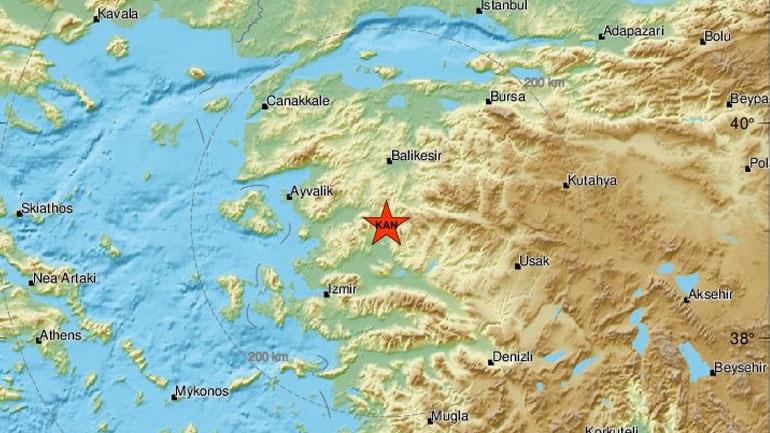 Ισχυρός σεισμός στην Τουρκία – Αισθητός στα νησιά του Β. Αιγαίου