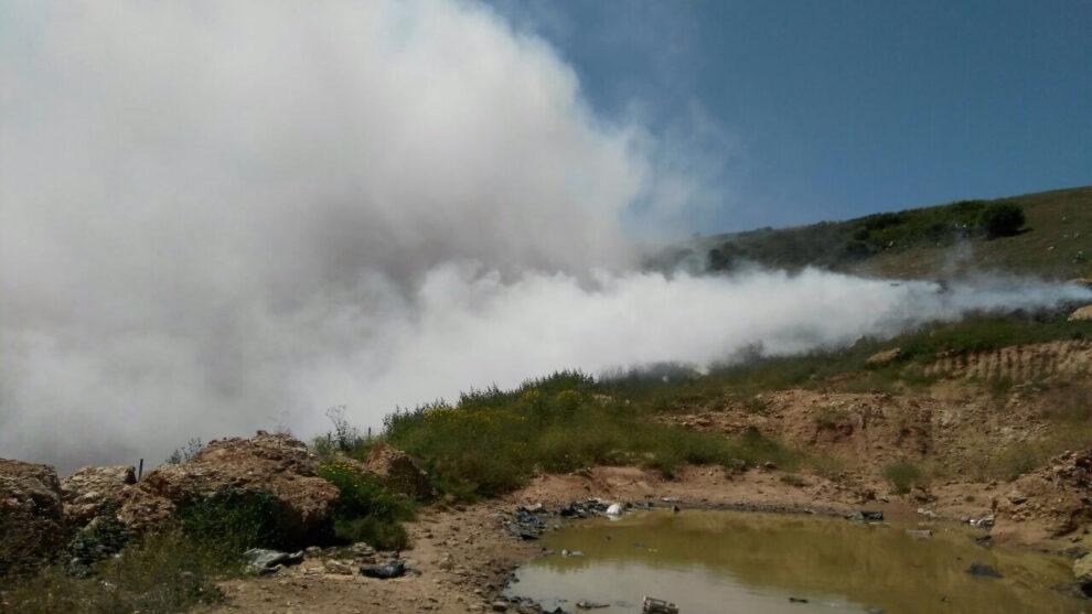 Φωτιά στον παράνομο σκουπιδότοπο του δήμου Τριφυλίας στο Αλιμάκι