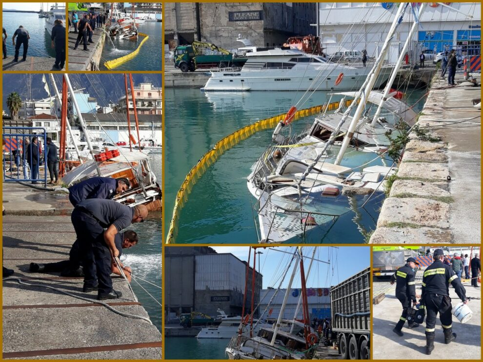 Από τύχη δεν είχαμε ναυάγιο στο λιμάνι της Καλαμάτας