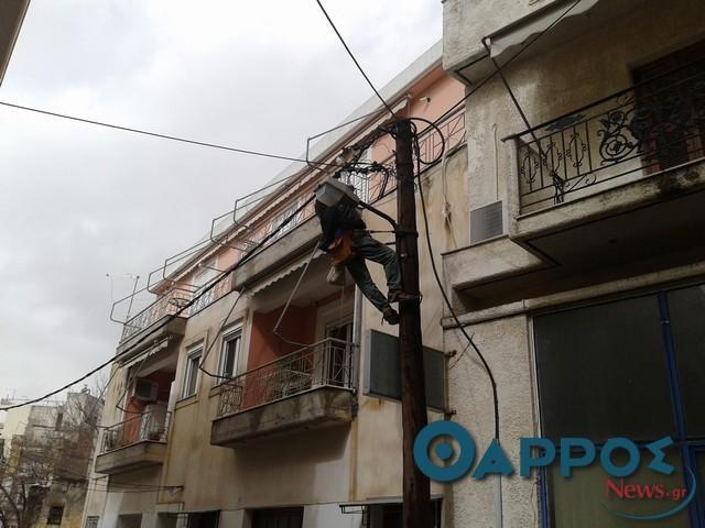 Διακοπές ρεύματος σε περιοχές της Καλαμάτας, σε ΤΚ Ευαγγελισμού και ΤΚ Μεθώνης
