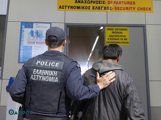 Σύλληψη νεαρού Σύρου στο αεροδρόμιο Καλαμάτας