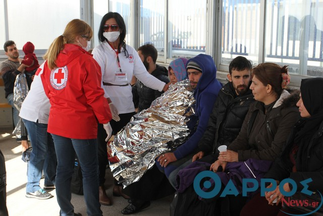 Ολοκληρώθηκε η φροντίδα στους πρόσφυγες από το Τμήμα Ελληνικού Ερυθρού Σταυρού Καλαμάτας