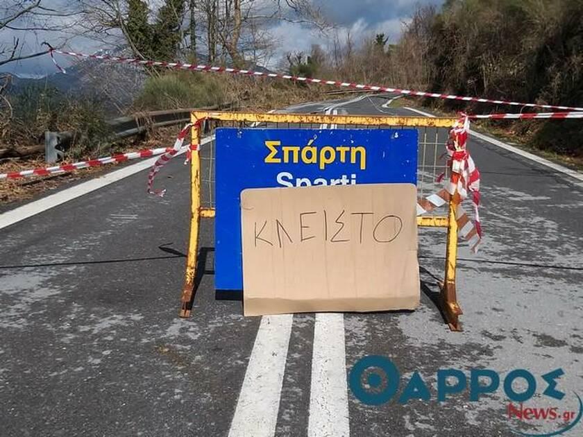 Κλείνει για δύο μέρες ο «κλειστός»  δρόμος Καλαμάτας – Σπάρτης