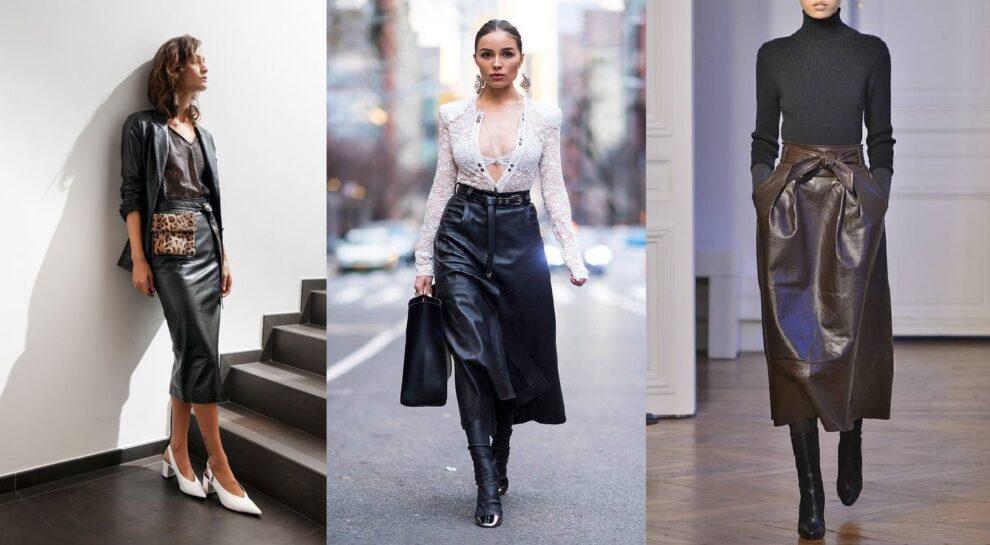 Δερμάτινες φούστες: Η απόλυτη τάση για φέτος