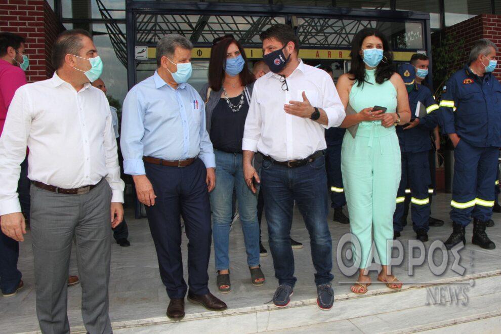 Νίκος Χαρδαλιάς στο Αεροδρόμιο Καλαμάτας: «Στο ζήτημα της δημόσιας υγείας  δε χωράνε εκπτώσεις»