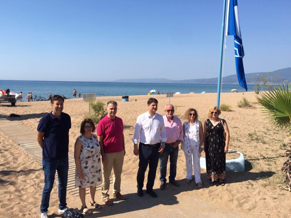 «Ανανεωμένη» και με αναρτημένη τη «Γαλάζια σημαία» η παραλία της Μπούκας περιμένει τους επισκέπτες της