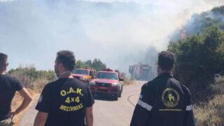 Η Ο.Α.Κ. 4Χ4 Μεσσηνίας στη φωτιά στη Μαθία