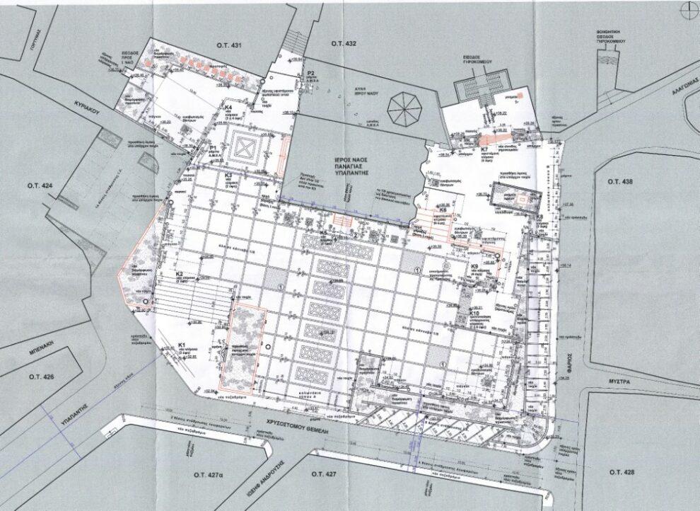 Ανάπλαση της πλατείας Υπαπαντής με ανάδειξη των αρχαιοτήτων