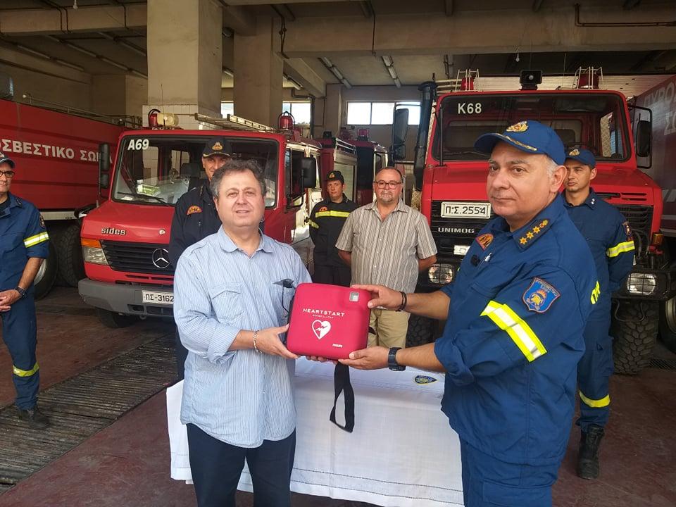 Δωρεά απινιδωτή από Μεσσήνιους της Νέας Υόρκης στην Πυροσβεστική