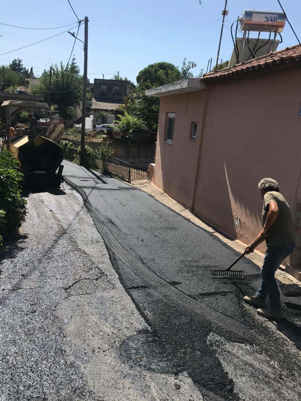 Σε εξέλιξη  εργολαβία ασφαλτοστρώσεων στο Δήμο Καλαμάτας