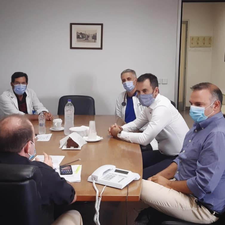 Τις δομές υγείας στην Καλαμάτα  επισκέφθηκε ο Αλ. Χαρίτσης