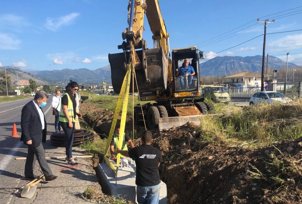 Ξεκίνησε η εγκατάσταση οδοφωτισμού στην εθνική οδό Ασπρόχωμα – Μεσσήνη