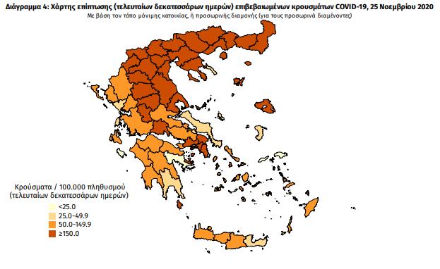 6 νέα κρούσματα κορωνοϊού στη Μεσσηνία – Η γεωγραφική κατανομή