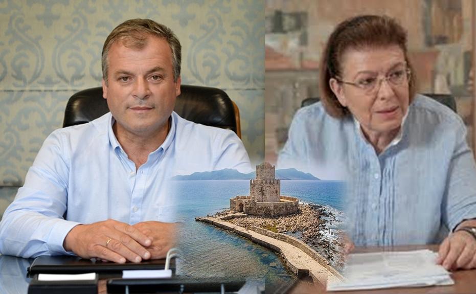 Σε συνεχή επαφή ο δήμαρχος Πύλου-Νέστορος με την υπουργό Πολιτισμού – Χρήζουν άμεσης αντιμετώπισης τα σοβαρά δομοστατικά  προβλήματα του κάστρου της Μεθώνης