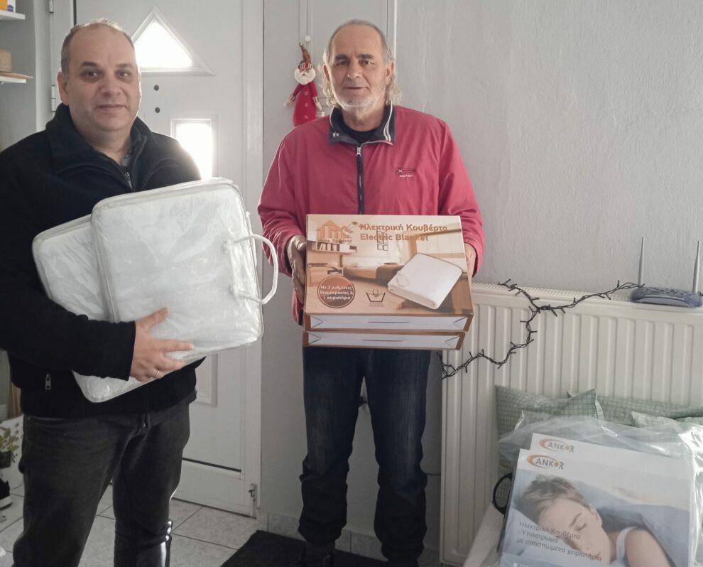 Πολίτες της Μεσσήνης προσέφεραν ηλεκτρικές  κουβέρτες σε κατοίκους ακριτικών χωριών