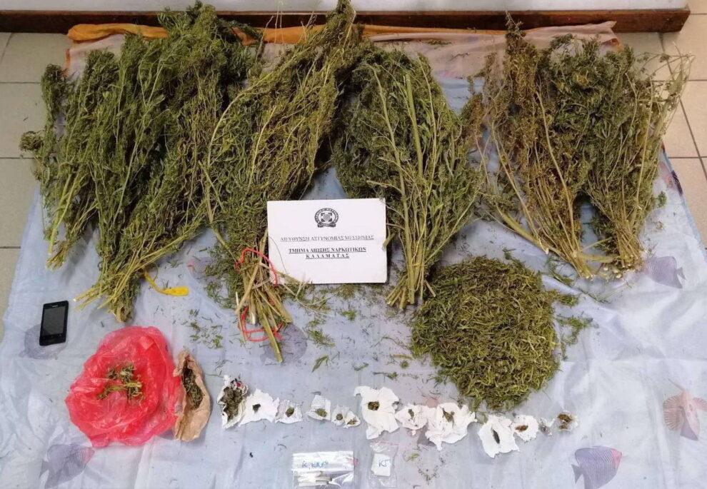 Πάνω από 4 κιλά χασίς εντόπισε  και κατέσχεσε η Δίωξη Ναρκωτικών σε δυο σπίτια στην Κορώνη
