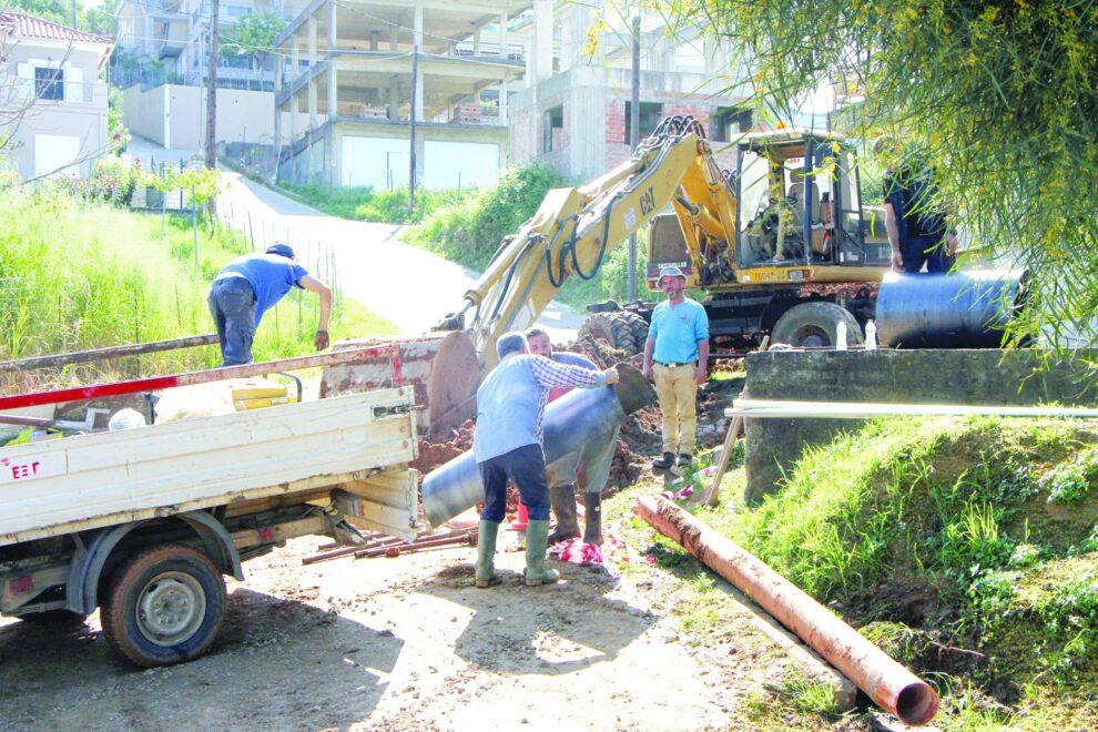 Καλαμάτα: Ολοκληρώθηκαν οι εργασίες στον κεντρικό αγωγό υδροδότησης