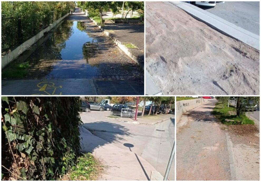 Πολλές παγίδες στους  ποδηλατόδρομους της Καλαμάτας