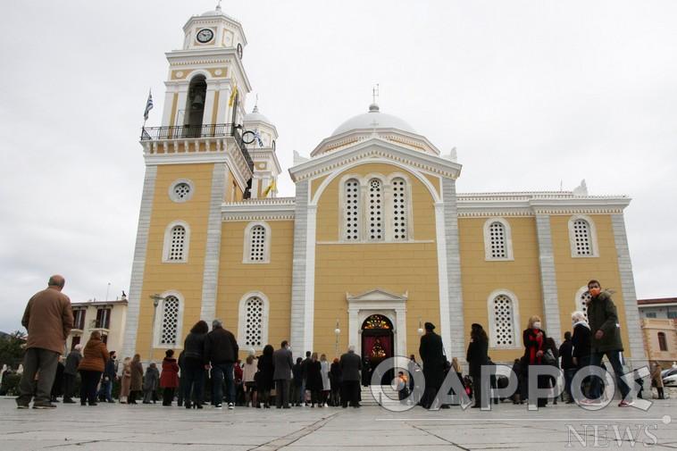 Με μέτρα και αποστάσεις η Καλαμάτα γιόρτασε την Πολιούχο της Παναγία Υπαπαντή