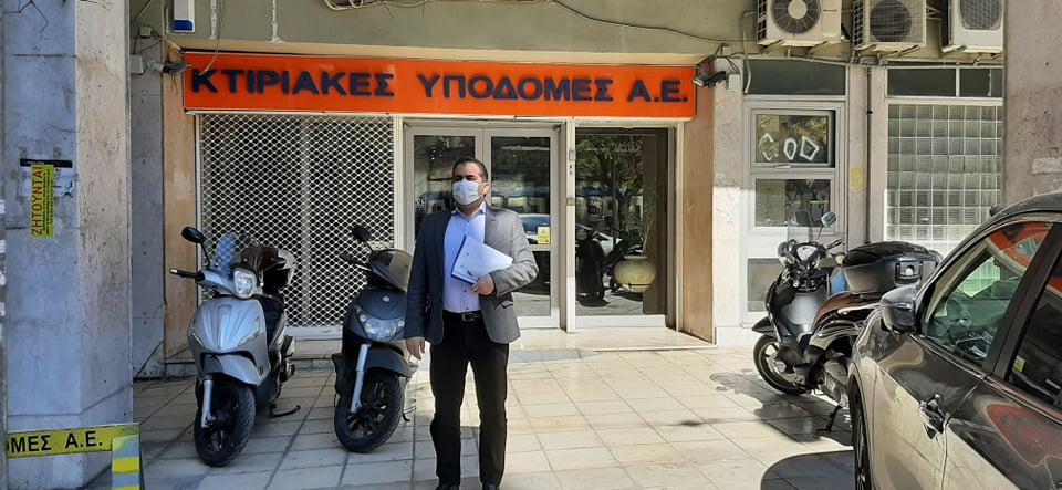 Στις κτηριακές υποδομές Α.Ε. ο δήμαρχος Θανάσης Βασιλόπουλος για τη μελέτη του ειδικού Γυμνασίου – Λυκείου