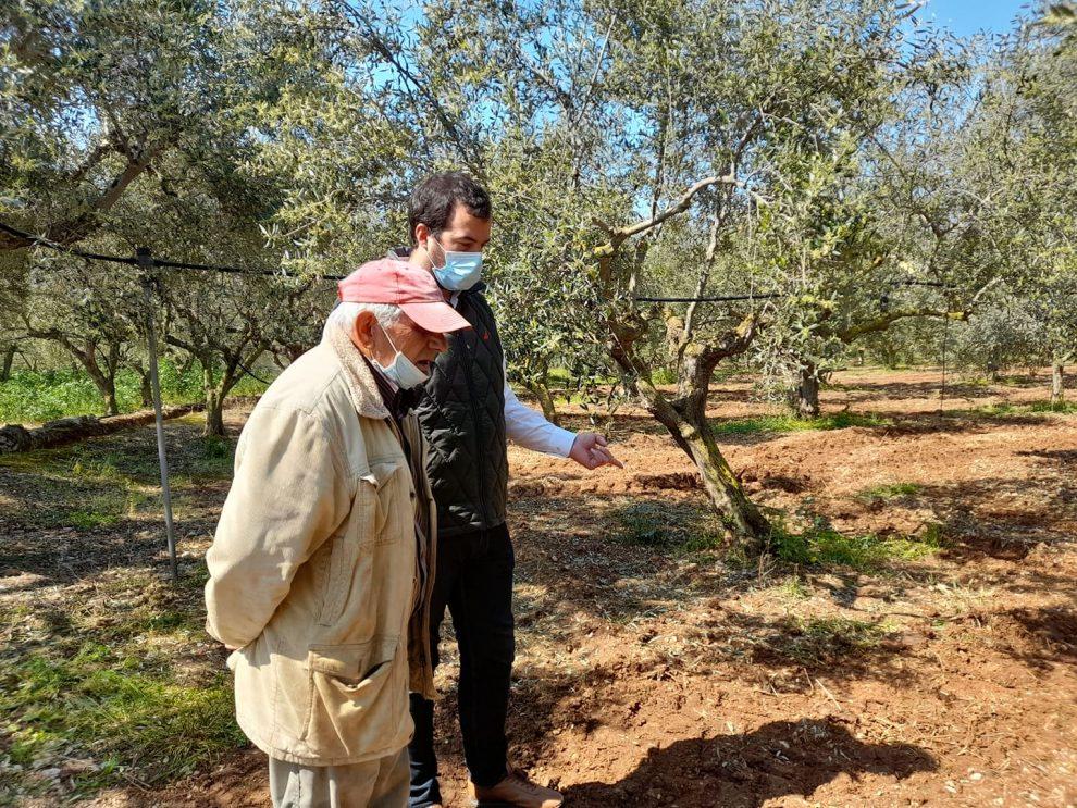 Κοντά στους αγρότες της Τριφυλίας  που επλήγησαν από τη χαλαζόπτωση ο Μενέλαος Γερονικολός