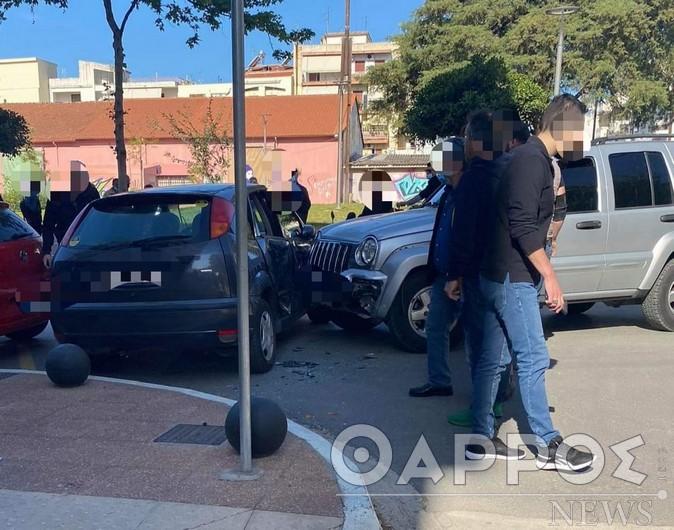 Σφοδρή σύγκρουση οχημάτων στο κέντρο της Καλαμάτας