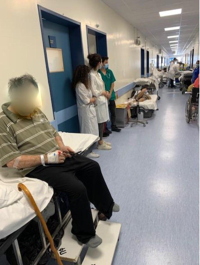 Δεν είναι η Γάζα! Είναι μια παθολογική κλινική ελληνικού νοσοκομείου…