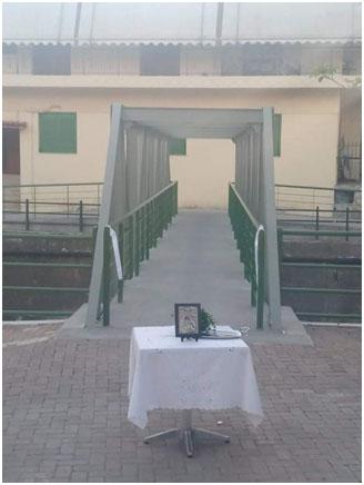 Η πεζογέφυρα της Θουρίας  έγινε το γεφύρι της Άρτας