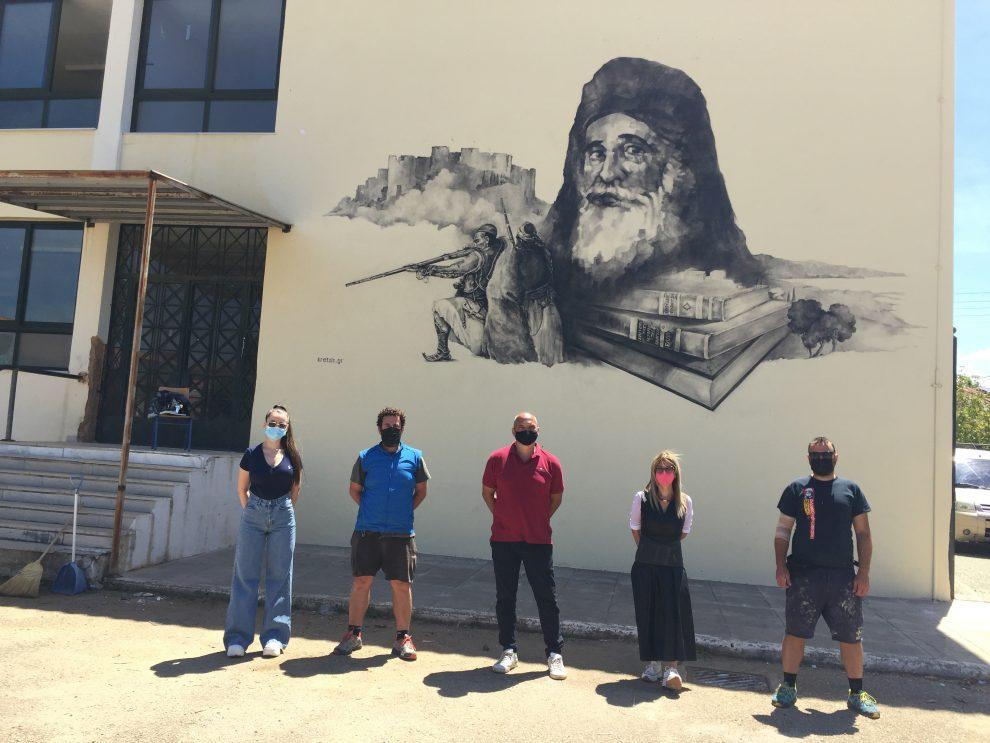 Γυμνάσιο Φιλιατρών: Τοιχογραφία του Αμβρόσιου Φραντζή  για τα 200 χρόνια από την Επανάσταση!