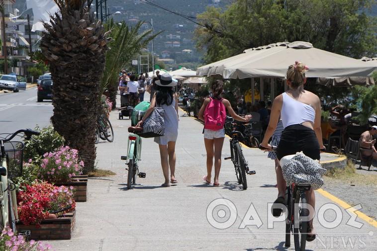 Με ποδήλατο στην παραλία της Καλαμάτας