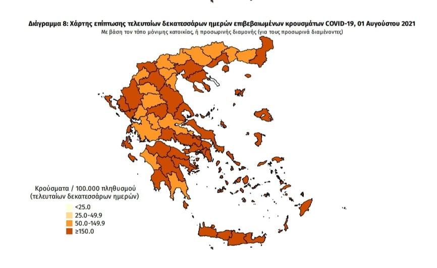 Κορωνοϊός: 32 νέα κρούσματα στη Μεσσηνία – 1.605 σε όλη την Ελλάδα