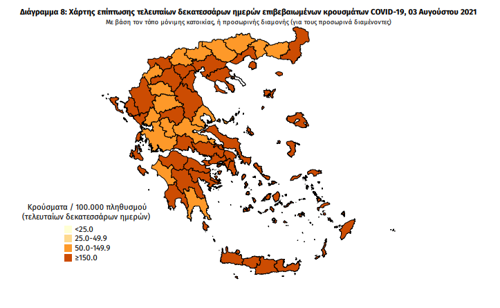 Κορωνοϊός: 49 νέα κρούσματα στη Μεσσηνία -3.428 στη χώρα