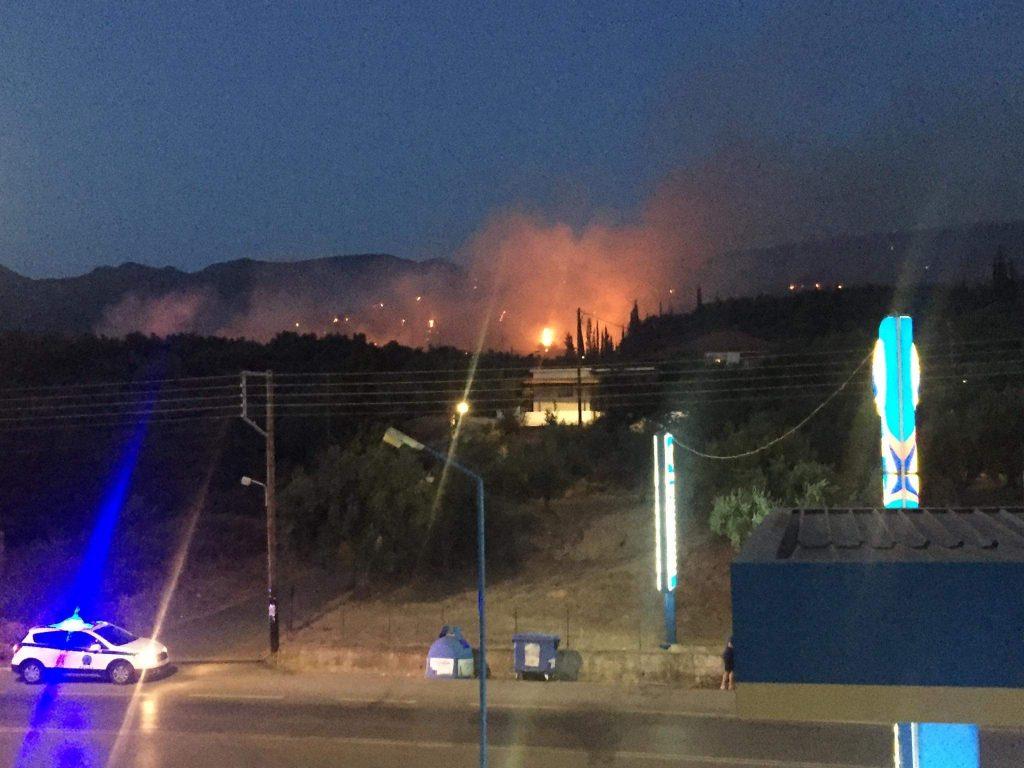Μεγάλη φωτιά και  στην Άνθεια Μεσσηνίας, λίγο έξω από την Καλαμάτα… (pics-video)