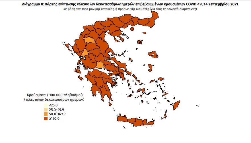 Κορωνοϊός: 36 νέα κρούσματα στη Μεσσηνία -2.919 κρούσματα σε όλη την Ελλάδα