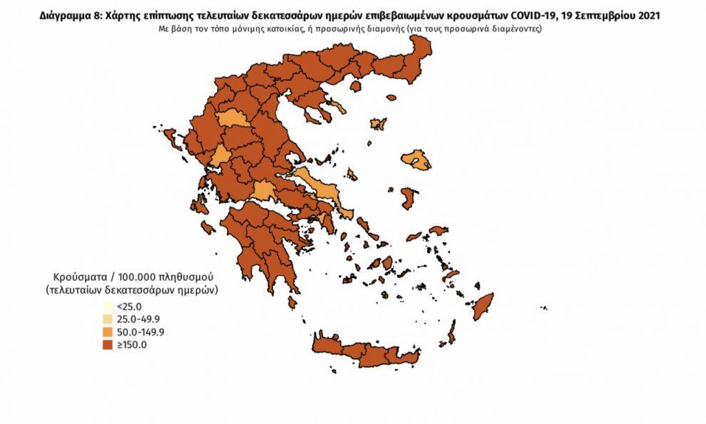 Κορωνοϊός: 21 νέα κρούσματα στη Μεσσηνία –  1.305 σε όλη την Ελλάδα