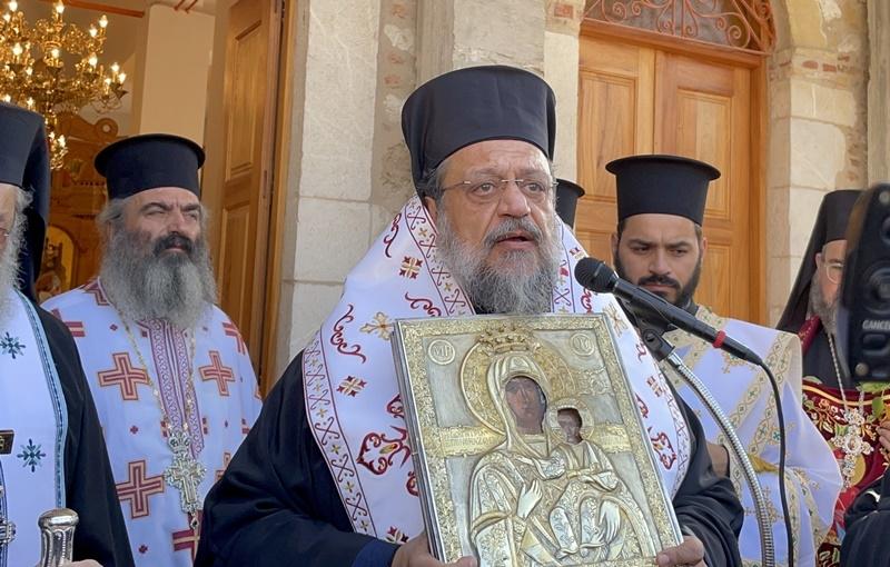 Χωρίς λιτάνευση και συνοδεία πιστών η επιστροφή της εικόνας στο Βουλκάνο
