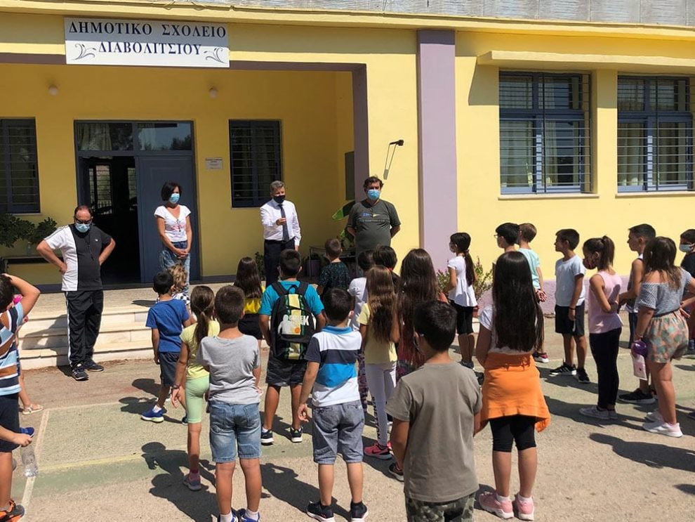 Επίσκεψη Αναστασόπουλου  στο Δημοτικό Σχολείο Διαβολιτσίου