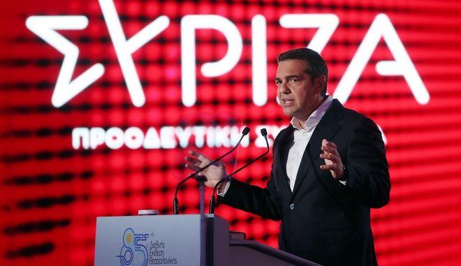 """ΔΕΘ 2021 – Τσίπρας: """"Νέα αρχή με 800 ευρώ κατώτατο μισθό και πρόσβαση στα ΑΕΙ με απολυτήριο"""""""