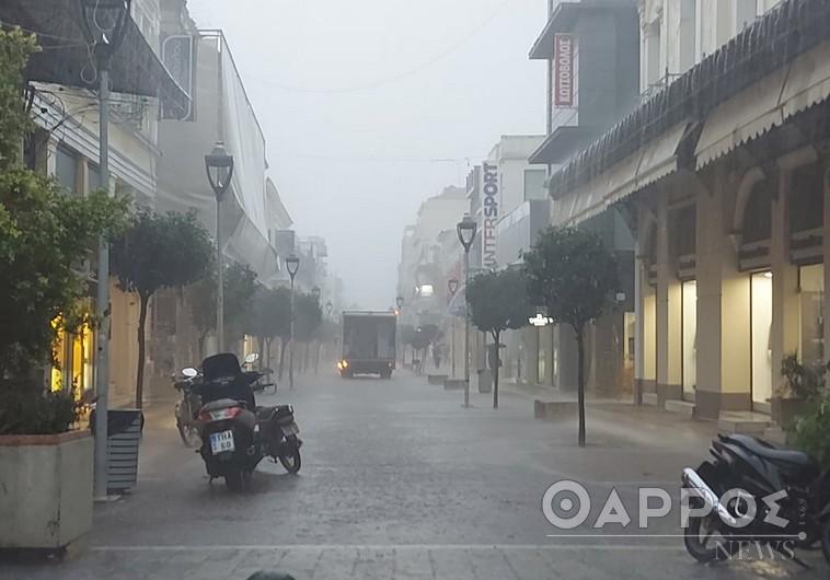 Κακοκαιρία «Μπάλλος»: Ξεκίνησαν τα προβλήματα στην πόλη της Καλαμάτας
